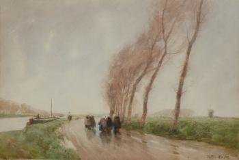 Windy Day, Flanders, William Tatton Winter
