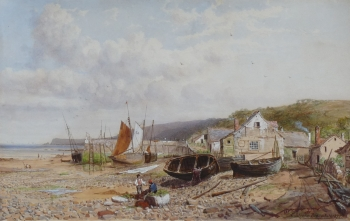 Low Tide, a Harbour near Swansea, Charles Brooke Branwhite