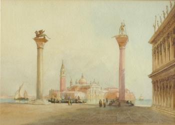 San Giorgio Maggiore from St Mark's Square, Venice, Richard Henry Wright