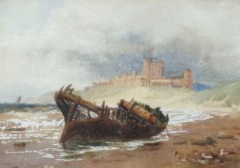 Bamburgh Castle, Thomas Bush Hardy