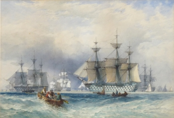 British Men O'War off Spithead, John Callow