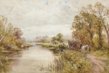 Hayfield near Arundel, Henry John Kinnaird