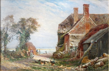 Cottages off Poole Harbour, Frederick William Newton Whitehead