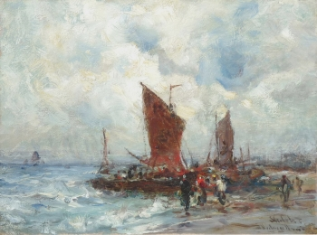 Collecting the Catch, Edward Aubrey Hunt