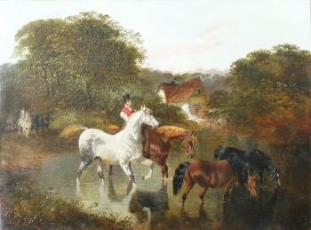 Taking Horses to Water, John Frederick Herring Jnr