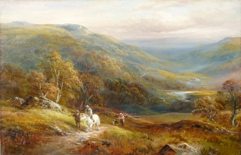 On the Hillside, Capel Curig, George Turner