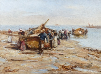 Hauling up the Boats, Robert Jobling