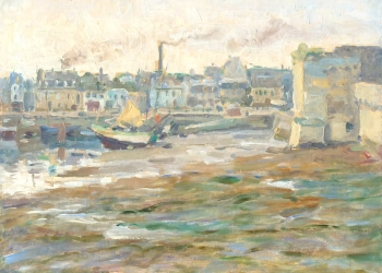 Concarneau from the Battlements, Low Tide, Murray Urquhart