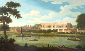 Hampton Court Palace from the River Thames, Joseph Nicholls