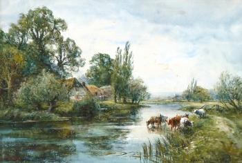 The Thames near Goring, Henry John Kinnaird