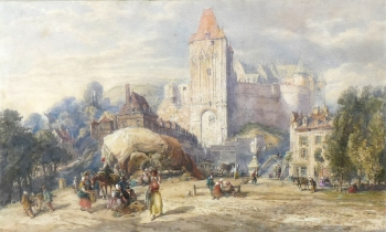 The Chateau at Dieppe, France, John Burgess jnr