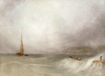 Rough Seas on the Coast, Anthony van Dyke Copley Fielding