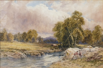 Anglers by a River, John Keeley
