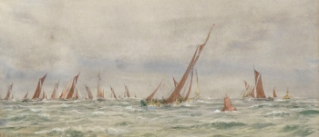 Medway Barge Race 1927, William Lionel Wyllie