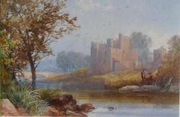 Anglers near a Castle, James Burrell Smith