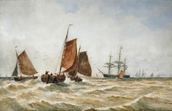 Fishing & other Vessels, Thomas Bush Hardy