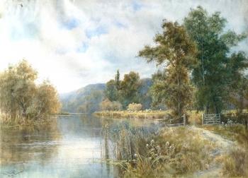 "The Thames near Pangborne, Berkshire, Francis Joseph ""Wiggs"" Kinnaird"