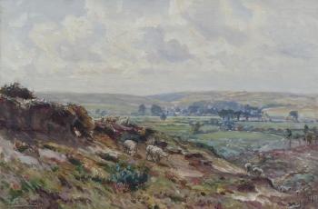 A Dorset Scene (Frome Valley?), Frederick William Newton Whitehead