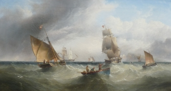 Shipping off Whitby, Henry Redmore