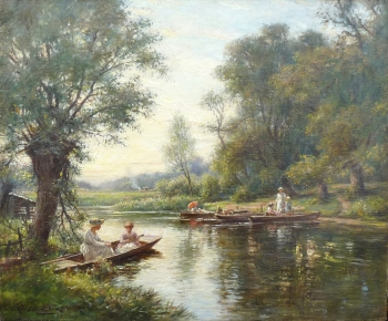 Summer Punting on the River, William Kay Blacklock