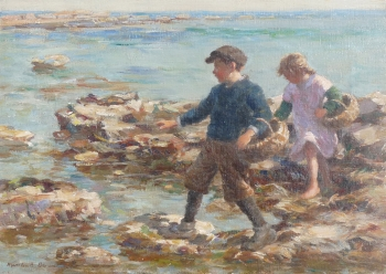 Gathering Shellfish, William Marshall Brown