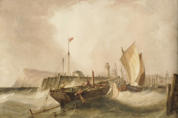 Off Dover Harbour, Richard Henry  Nibbs