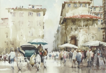 Precincts of the Duomo, Florence, Dennis Page
