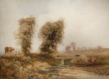 Landscape with Cattle, Peter De Wint