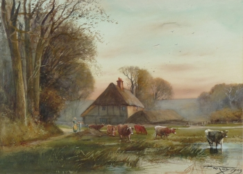 Cattle Heading to Water, Henry Charles Fox