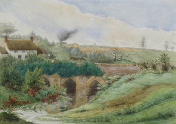 Views of Caundleford Bridge, Dorset, George Buchanan Wollaston