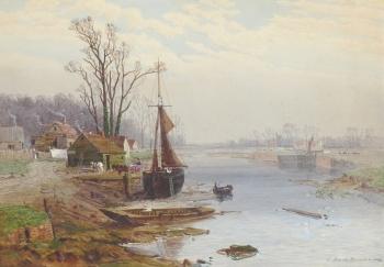 A Winter Morning near Maldon, Essex, Charles Brooke Branwhite