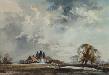 Kentish Oast Houses, Rowland Hilder