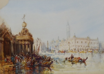 St Mark's Square from the Dogana, Venice, Italy, (Stephen) Frank Wasley