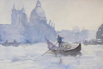 Scene in Venice, Italy, Hercules Brabazon Brabazon