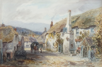 New Inn, Porlock, Somerset, Alfred Leyman