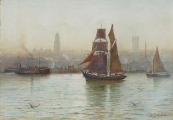 Woodside Ferry, Birkenhead, Liverpool, Charles Arthur Cox