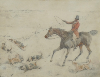 Huntsman with Hounds Casting, Henry Thomas Alken