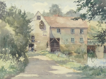 Old Mill, Sturminster Newton, Dorset, Elsie K. Powell
