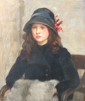 Portrait of Gladys Hunt, aged 11, Walpole (possibly Lucy Gertrude)