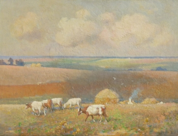 Cattle in a Field, Frederick Hall