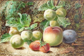 Crab-apples, Strawberries & Peach, Oliver Clare