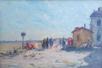 Continental Beach Scene, Maurice Moisset