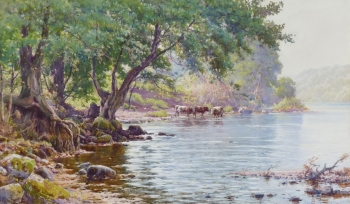 Cattle Watering, Reginald Aspinwall