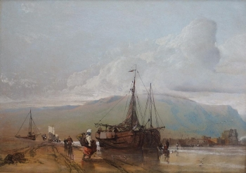 Fisherfolk on a Beach, Henry Bright