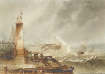 Rough Seas off Scarborough, Henry Barlow Carter