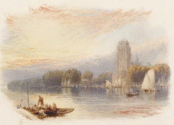 View of the River Dart, Myles Birket Foster
