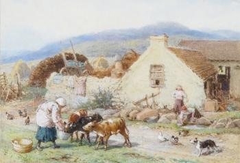 A Highland Farm, Myles Birket Foster