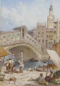 Rialto Bridge, Venice, Italy, Myles Birket Foster