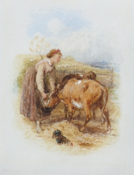 Feeding the Calves, Myles Birket Foster