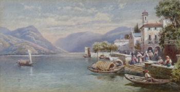Village on Lake Como, Italy, Charles Rowbotham